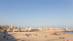 在海滩的Petanque埃尔坎佩略 库存图片