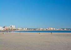 在海滩的Wnter太阳 免版税图库摄影
