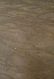在海滩纹理的布朗沙子。 免版税库存照片