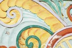 在海洋驱动,迈阿密海滩的艺术装饰带状装饰 免版税图库摄影