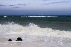 在海洋,古巴的风景 免版税库存照片