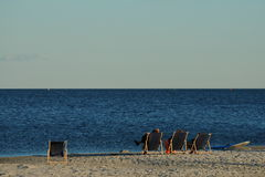 在海滩 图库摄影