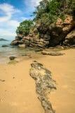 在海滩- Buzios -巴西的岩石 库存图片