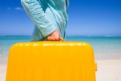 在海滩II的到来 免版税库存图片