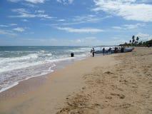 在海滩Nilaveli/斯里兰卡 库存图片