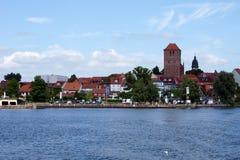 在海Müritz的Waren 免版税库存图片