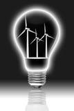 在涡轮风里面的电灯泡 免版税库存图片