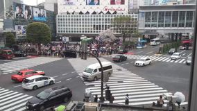 在涩谷横穿的Timelapse 股票视频