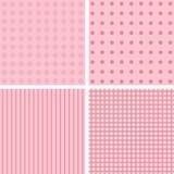 在淡粉红的4个背景样式 皇族释放例证