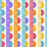 在淡色的几何五颜六色的无缝的样式 库存例证