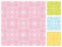 在淡色计划的无缝的花卉样式 免版税库存图片