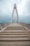在淡水厅渔夫s码头的恋人桥梁 免版税库存图片