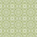 在淡绿色的无缝的万花筒样式 图库摄影