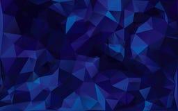 在深蓝口气的抽象poligonal背景 皇族释放例证