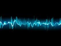 在深蓝的明亮的声波。EPS 10 免版税库存照片