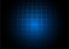 在深蓝背景的抽象企业正方形 库存例证