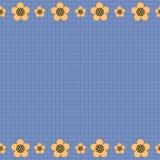 在深蓝背景的花卉样式 向量 免版税库存照片