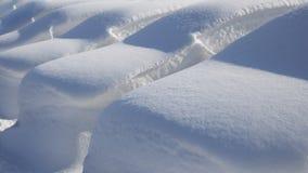 在深雪下的汽车 免版税库存图片