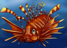在深水的毒鱼 库存图片