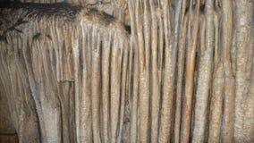 在深洞的许多石笋 免版税库存图片