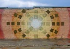 在深Ellum,达拉斯,得克萨斯围住艺术壁画 免版税库存图片