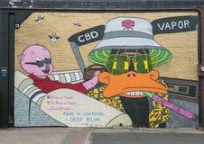 在深Ellum,达拉斯,得克萨斯围住艺术壁画 免版税图库摄影