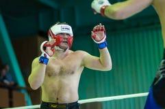 在混杂的武术的伏尔加联邦管区冠军…… 免版税库存照片