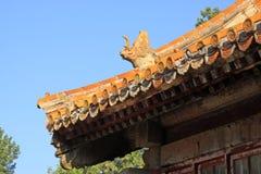 在清宫的东部皇家坟茔的中国古老建筑学 图库摄影