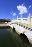 在清宫的东部皇家坟茔的中国古老建筑学 免版税库存图片