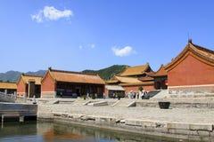 在清宫的东部皇家坟茔的中国古老建筑学 库存图片