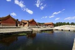 在清宫的东部皇家坟茔的中国古老建筑学 库存照片