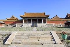 在清宫的东部皇家坟茔的中国古老建筑学 免版税图库摄影