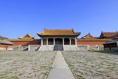 在清宫的东部皇家坟茔的中国古老建筑学 免版税库存照片