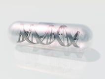 脱氧核糖核酸胶囊 免版税库存照片