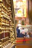 在清真大寺里面在科多巴梅斯基塔 免版税库存图片