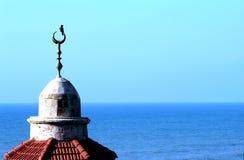 在清真寺的鸟 库存照片