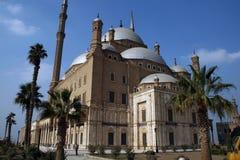 在清真寺里面的开罗城堡 免版税库存照片