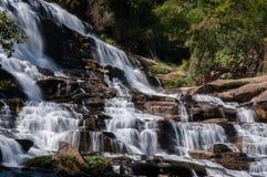 在清迈府,泰国的瀑布 库存照片