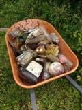 在清洁事件以后收集的垃圾,美国 免版税库存图片