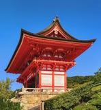 在清水寺寺庙,京都的传统日本建筑学 免版税库存照片