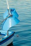 在渔船的灯 库存照片