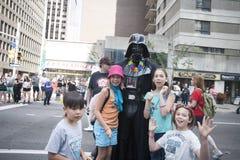 在渥太华资本骄傲游行的Darth vader 2017年 免版税库存照片