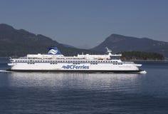 在温哥华和温哥华岛,不列颠哥伦比亚省之间的轮渡 库存图片