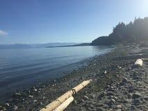 在温哥华岛上的海滩 免版税库存照片