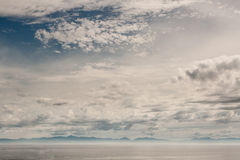 在温哥华岛的天空 免版税库存照片