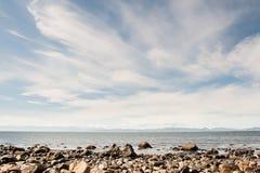 在温哥华岛的天空 库存照片