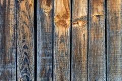 在温暖和凉快的颜色的老破旧的木板条 关闭 免版税库存照片