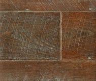 在温暖的口气的木木条地板,特写镜头 黑暗的纹理木头 木木条地板 免版税库存照片