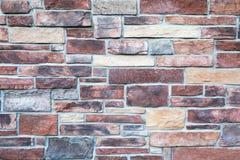 在温暖的口气的石墙 免版税库存图片
