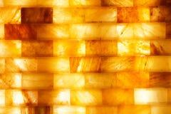 在温泉的盐砖 库存照片